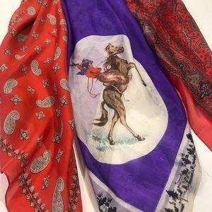 Vintage Silk Western Scarfs 3